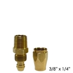 "Replacement fitting for 3/8"" Flexeel Air Hose with 1/4"" MPT"