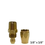 "3/8"" Replacement Fitting for Flexeel Air Hose -3/8"" mpt"